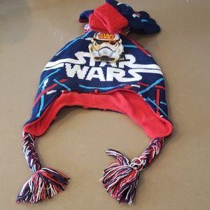 NWT Disney Star Wars beanie and glove.